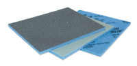 Abrasive coated one sided sponge pads. Price per 6 pads.